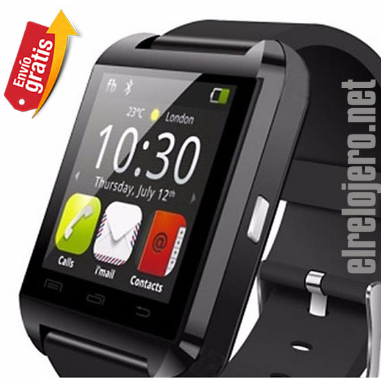 .RELOJ CON TELEFONO BLUETOOTH USB PANTALLA TACTIL MP3